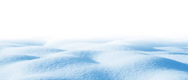 Deep snowdrifts stock photo
