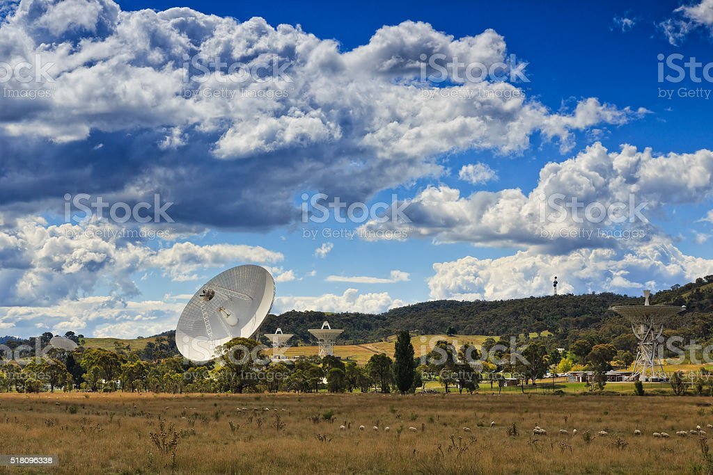 CAN Deep space 5 dishes stock photo