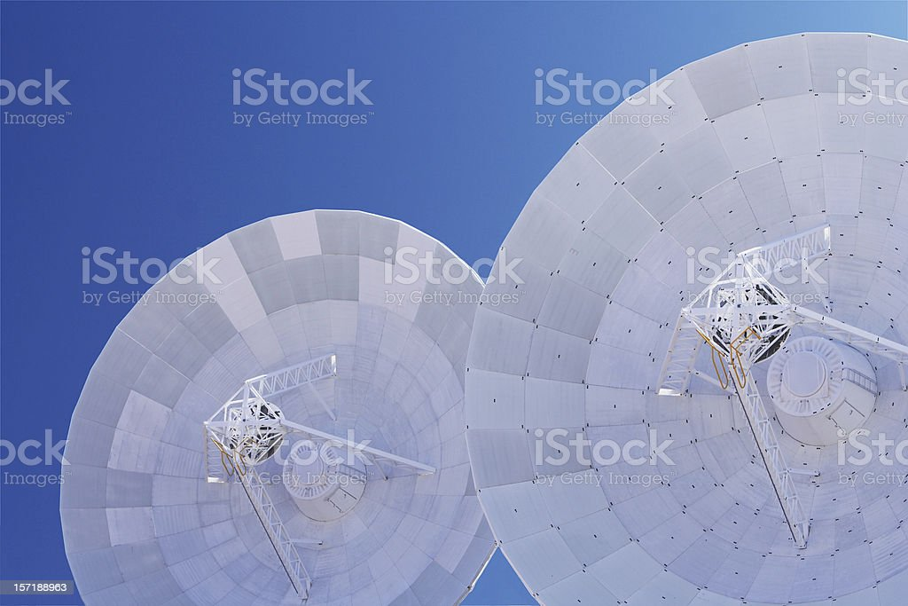 deep space array with clipping path stock photo
