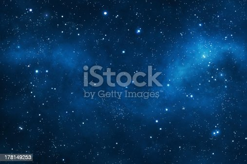 Deep space background with nebulae