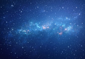 Deep space full of star clusters and galaxies. Infinite universe in high resolution.