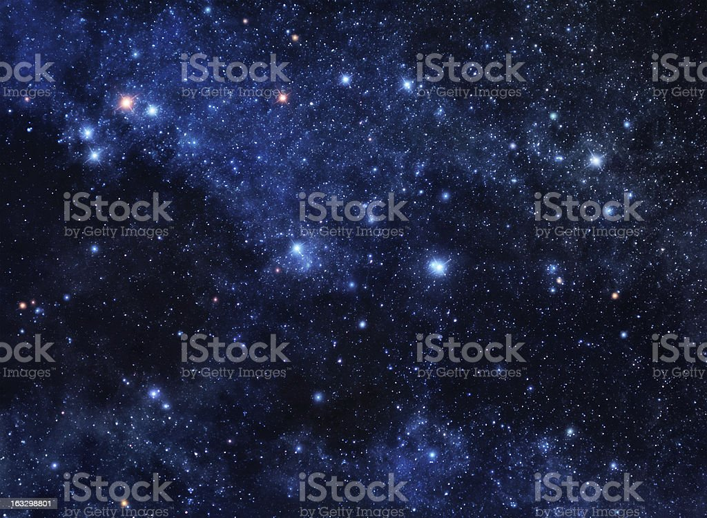 Deep space gems stock photo