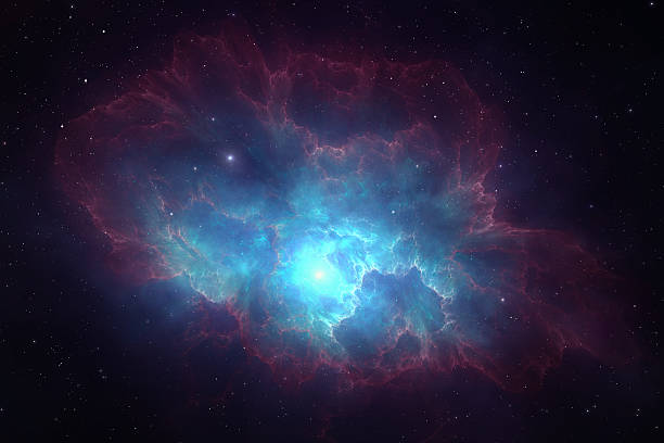Deep space nebula Deep space nebula with vibrating colors and bright stars nebula stock pictures, royalty-free photos & images