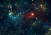 Deep space stars background