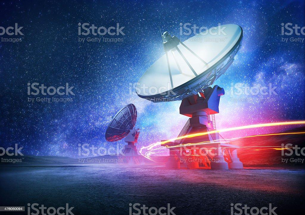 Deep Space Radio Telescope stock photo