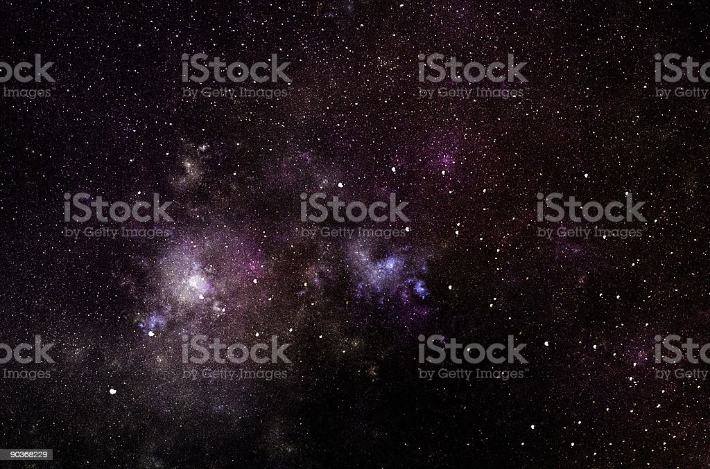 Deep space with multiple colors and stars stock photo