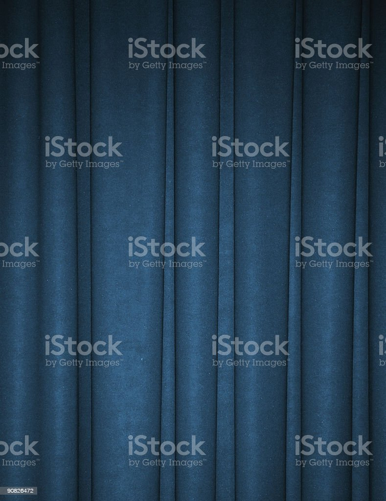Deep teal draped backdrop background stock photo