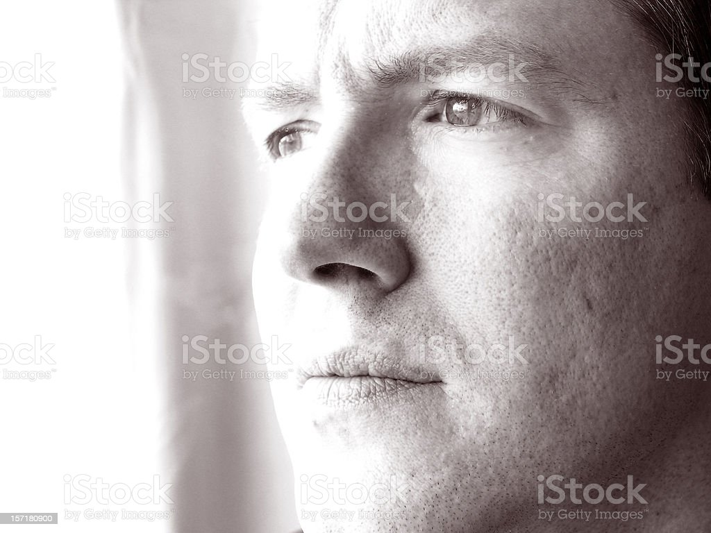 Deep thought royalty-free stock photo
