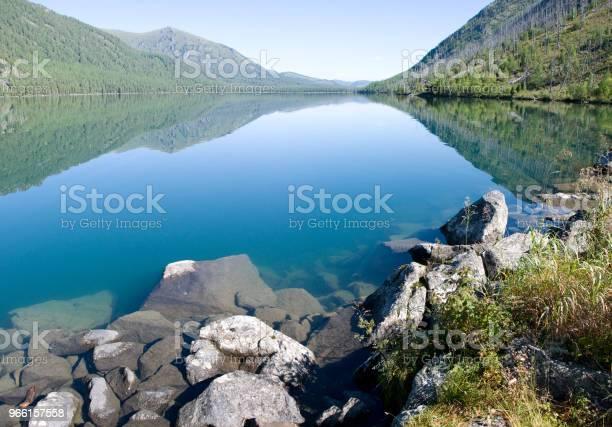 Lago Trasparente Profondo Nella Foresta - Fotografie stock e altre immagini di Acqua