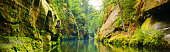 istock Deep valley with rocks and river 1029817970