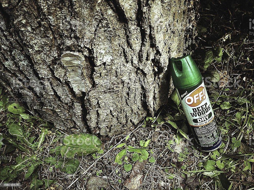 Deep Woods Off, Deet royalty-free stock photo
