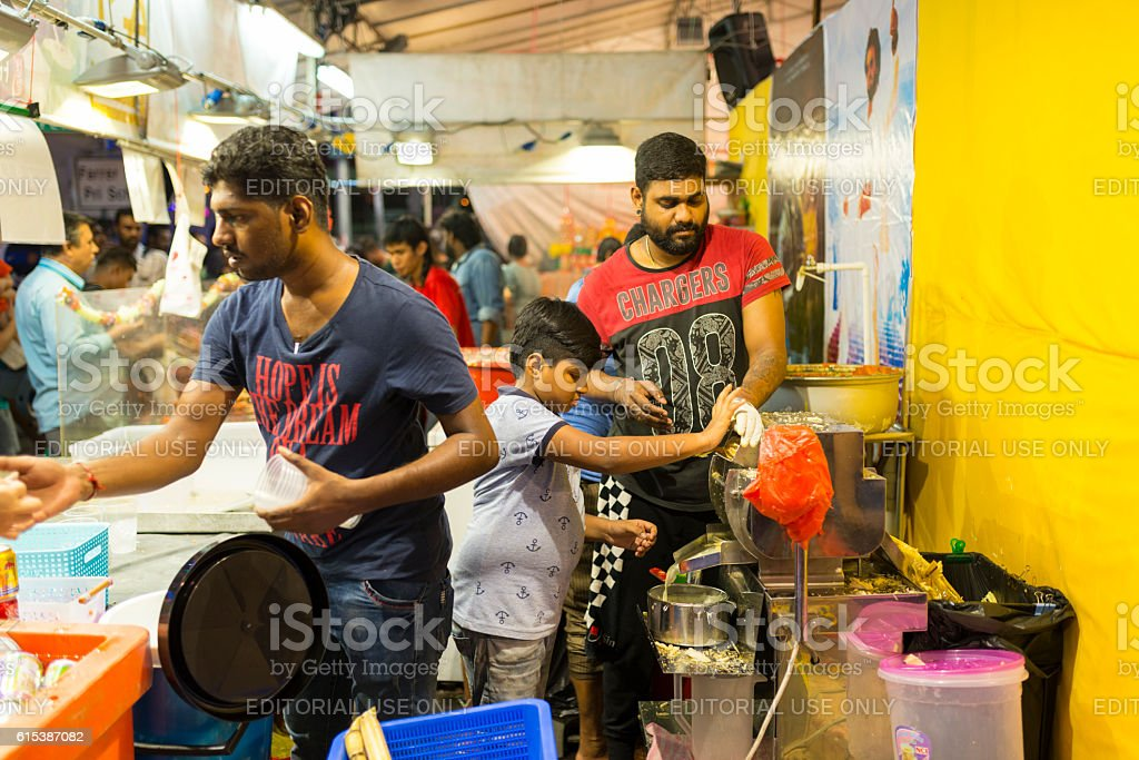 Deepavali Bazaar in little India. Singapore stock photo