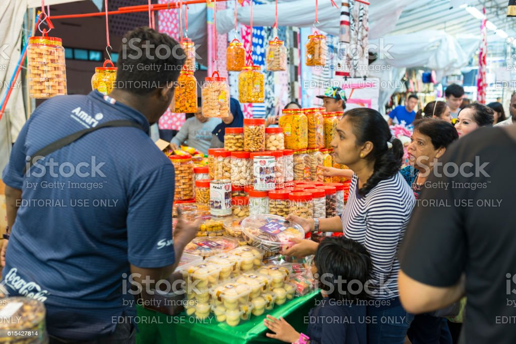 Deepavali Bazaar in Little India, Singapore stock photo