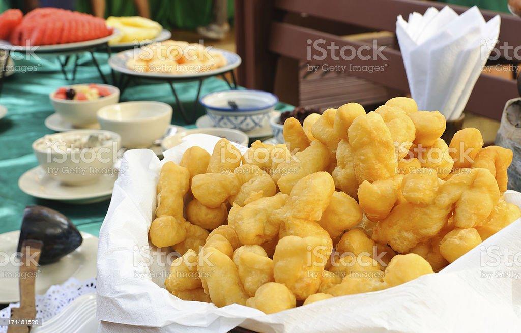 Deep-fried dough stick royalty-free stock photo
