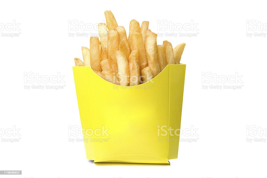deep-fried potatoes royalty-free stock photo