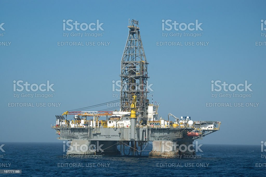 'Deepwater Horizon' Offshore oil rig royalty-free stock photo