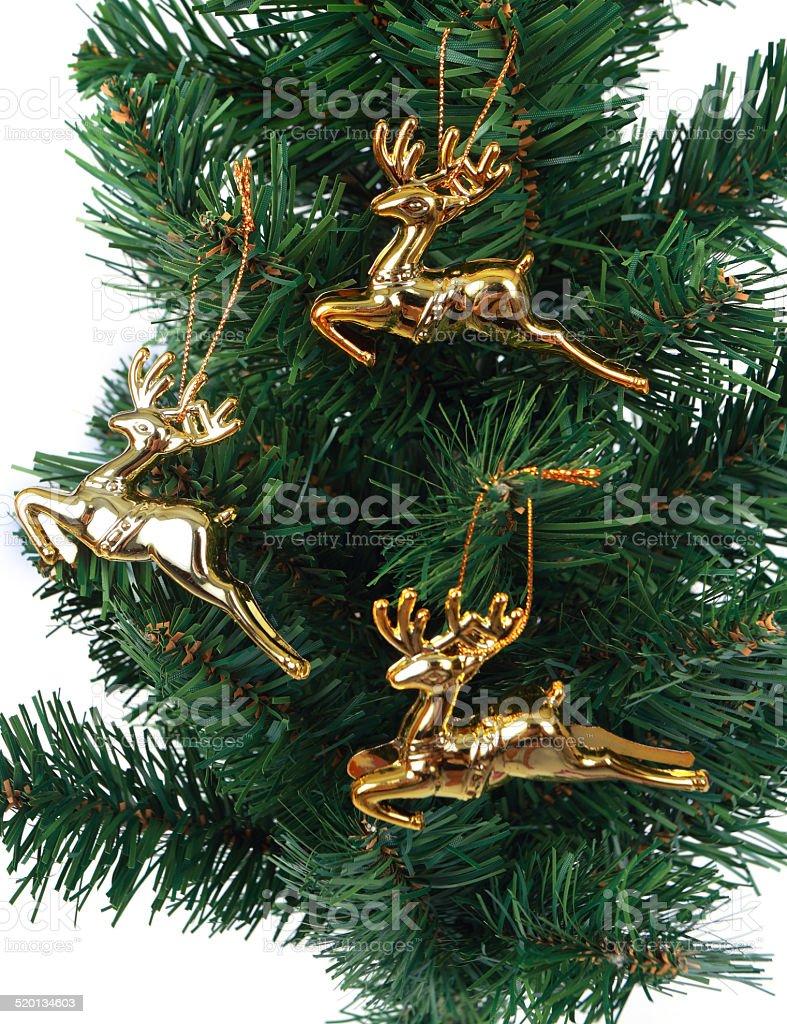deer christmas tree on white background 5 stock photo