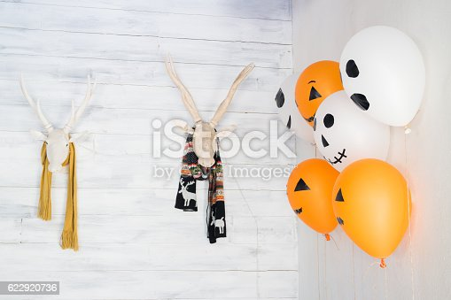 istock Deer head decoration for Halloween 622920736
