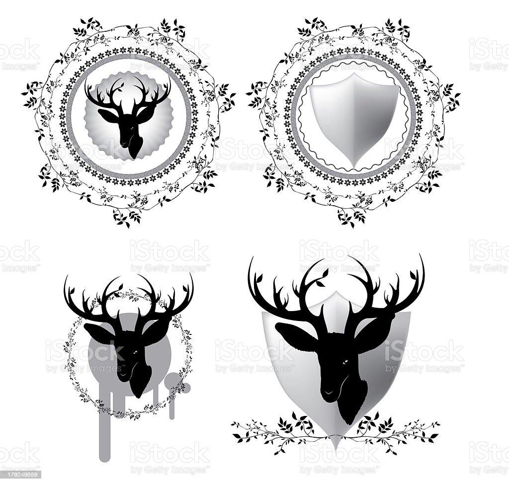 Deer label set , Vector stock photo