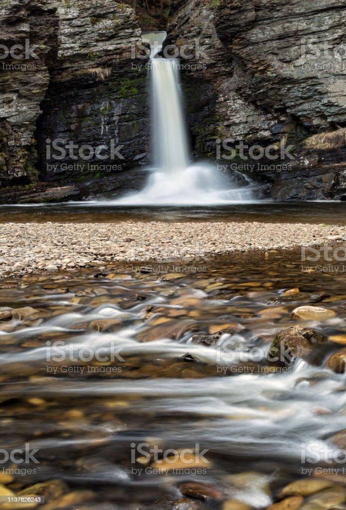 Deer Leap Falls, Delaware Water Gap stock photo
