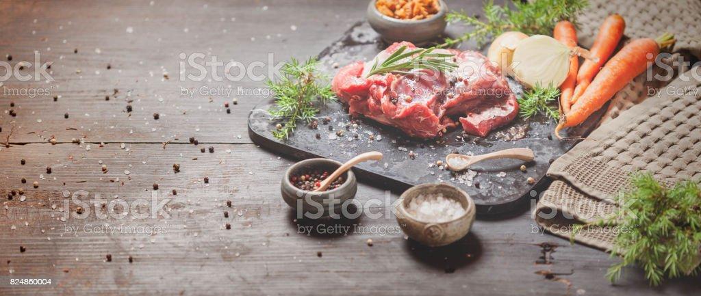 Deer or venison roast stock photo