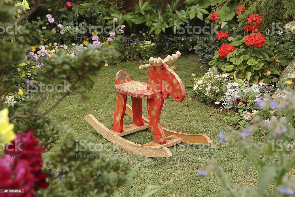Deer Rocking Horse stock photo