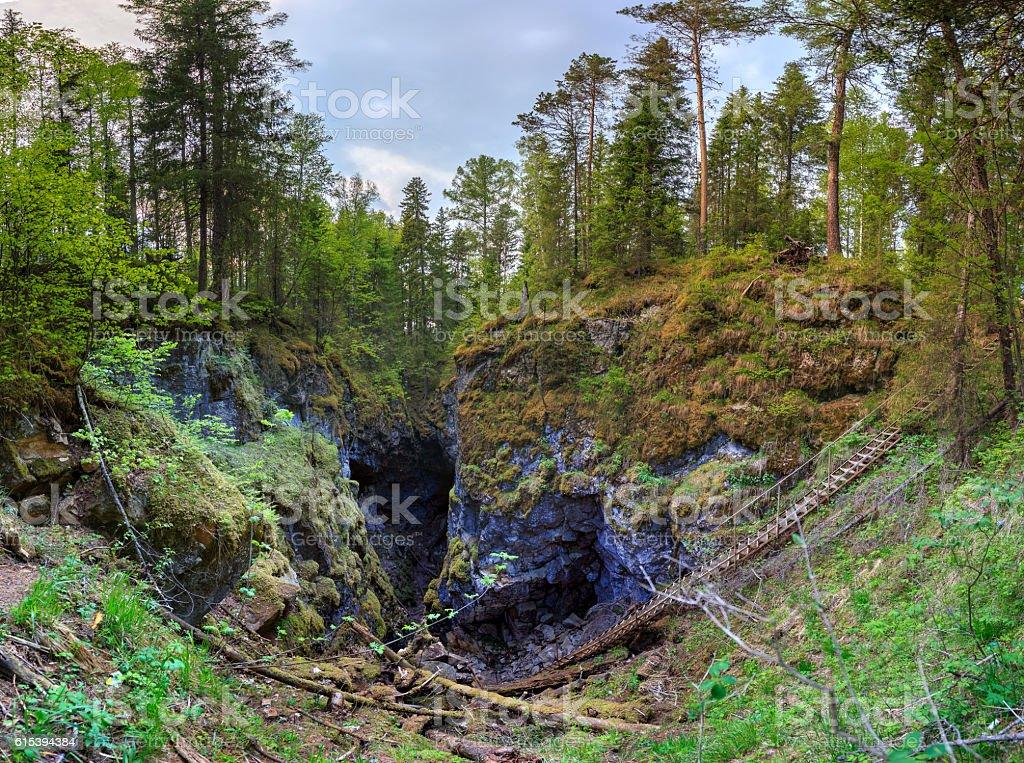 deer springs national park, urals, russia stock photo