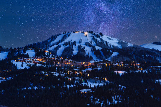 Deer Valley Park City at Dusk stock photo