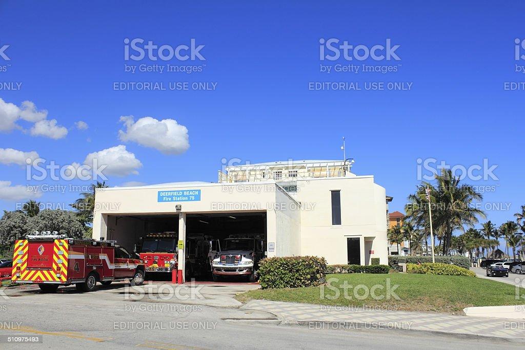 Deerfield Beach Fire Station 75 stock photo