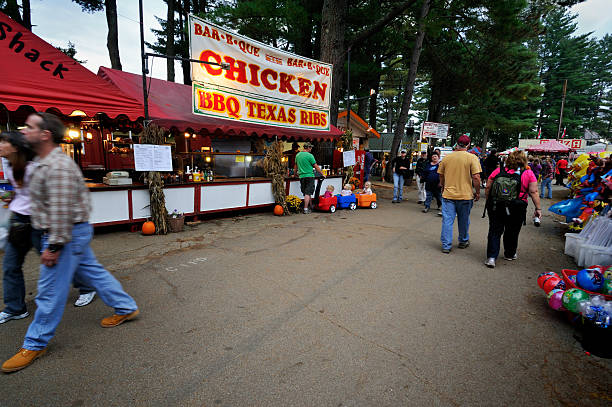 deerfield fair food vendors - mike cherim stock pictures, royalty-free photos & images