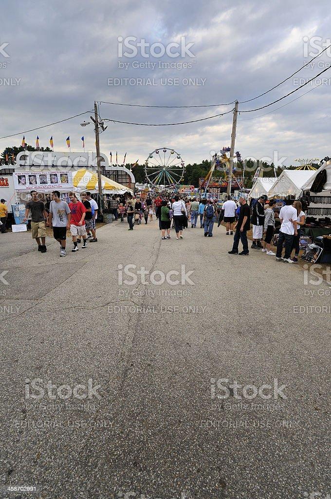 Deerfield Fair Midway Thoroughfare stock photo
