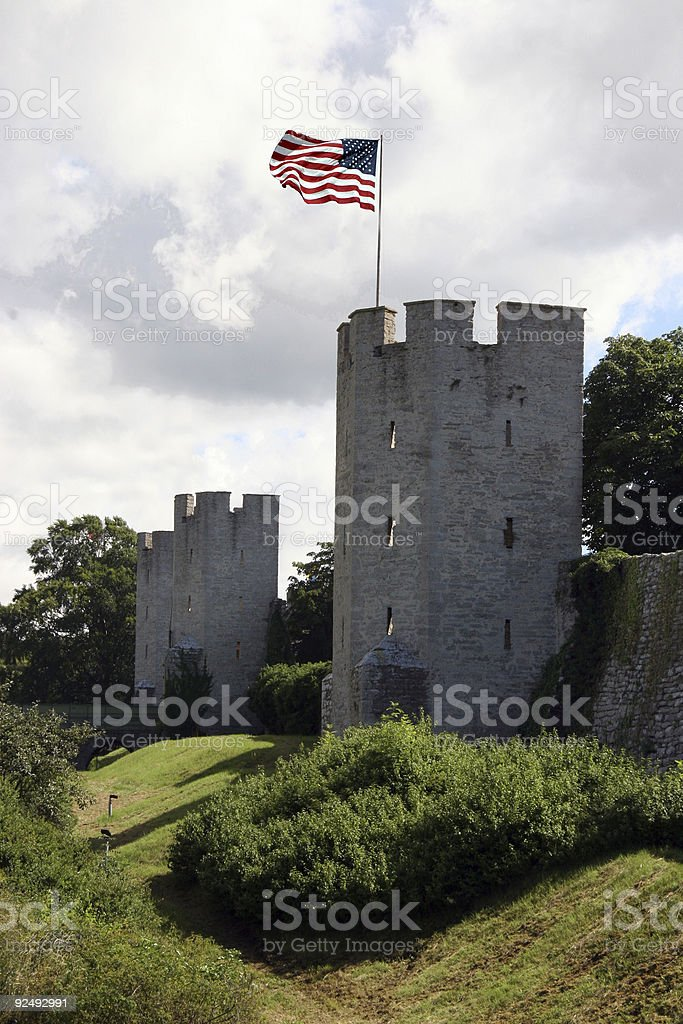 US defence line royalty-free stock photo