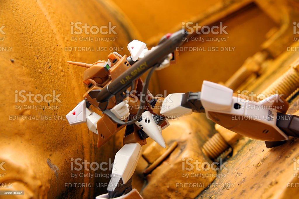 Defending the Factory stock photo