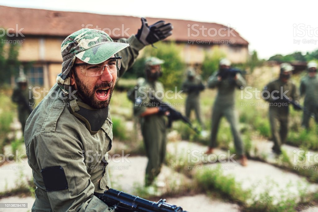 Defending the strategic positions in business stock photo