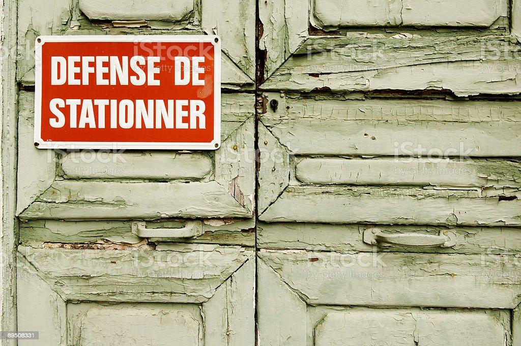 Defense de stationner royalty-free stock photo