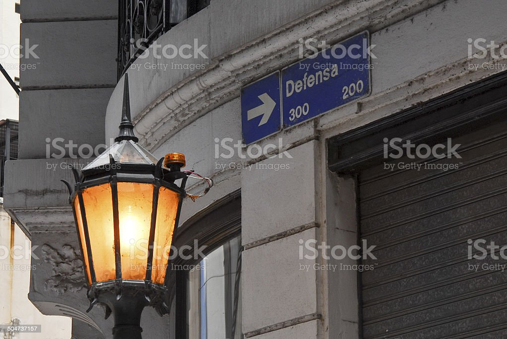 Defensa Street stock photo