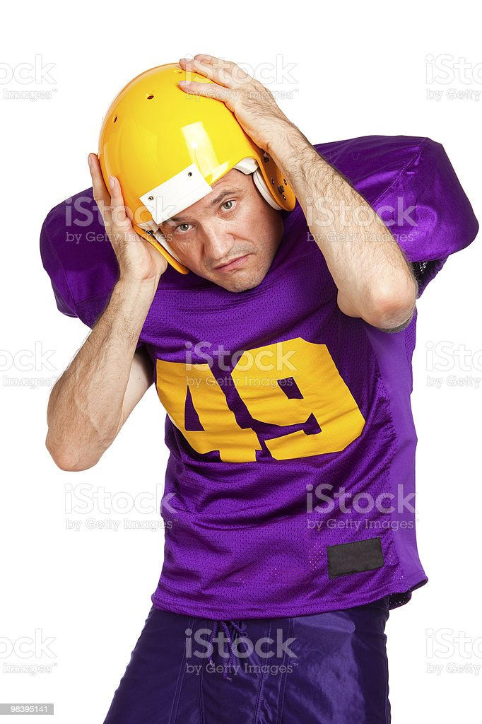 Defensive End royalty-free stock photo