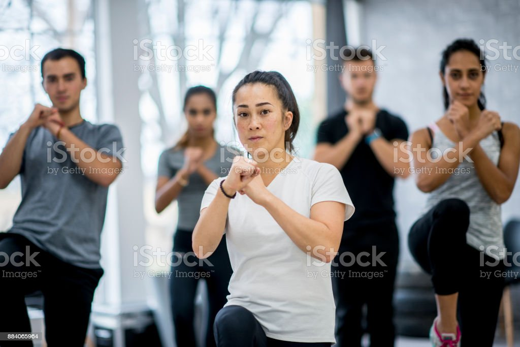 Defensive Pose stock photo