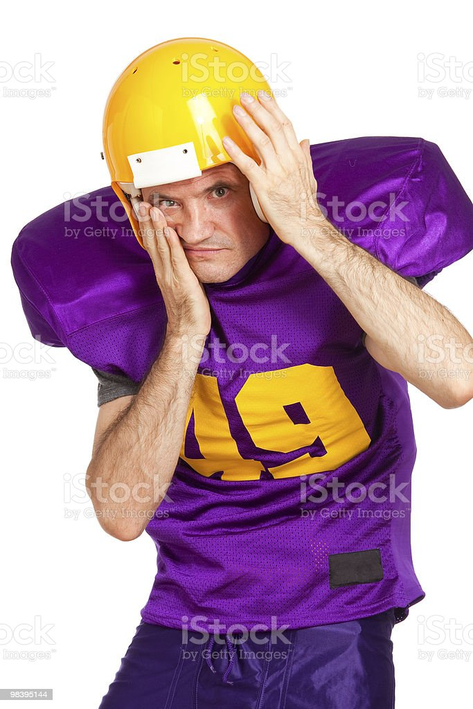 Defensive Tackle royalty-free stock photo