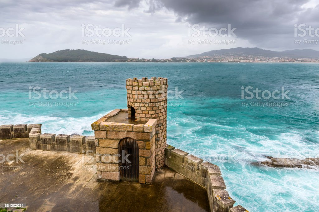 Defensive tower of the Monterreal Fortress stock photo