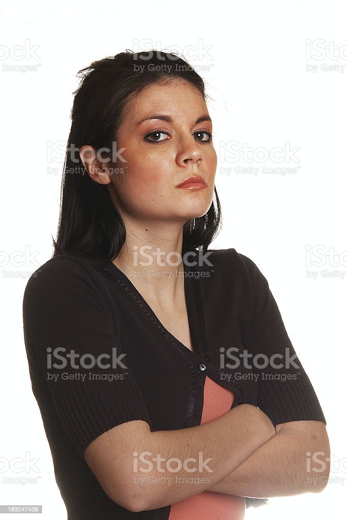 Defiant Young Woman stock photo