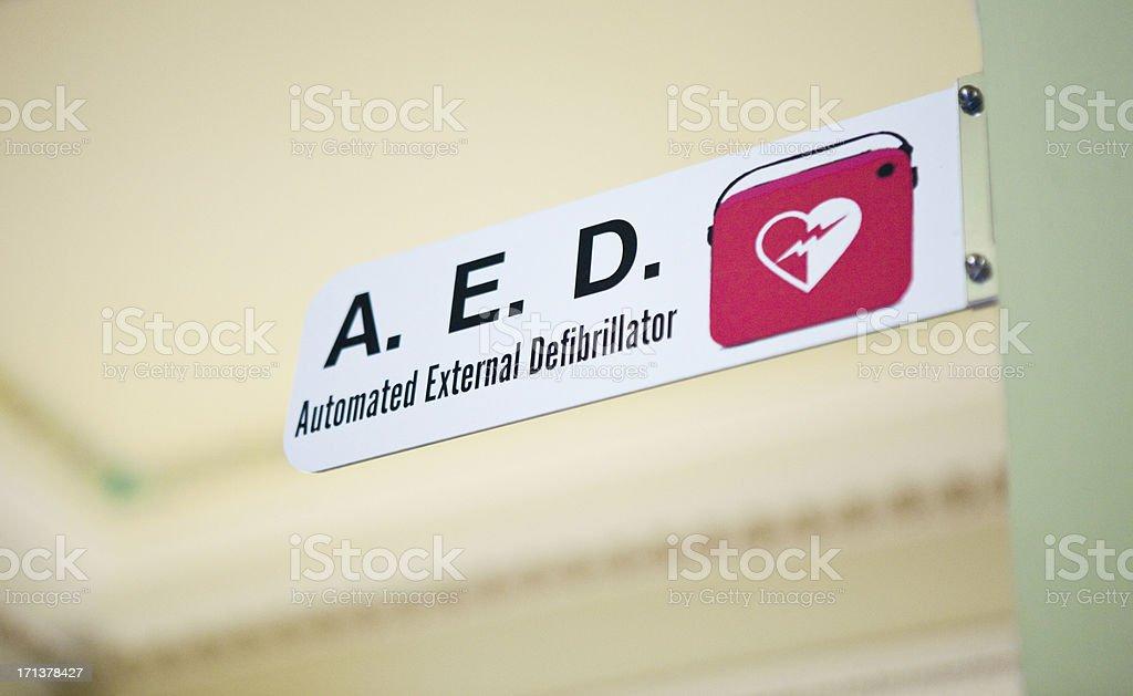 A.E.D. Defibrillator stock photo