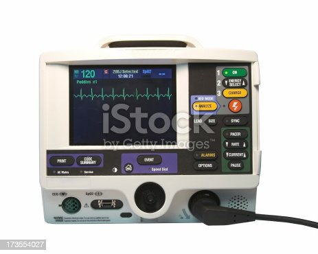 Defibrillator showing ECG waves