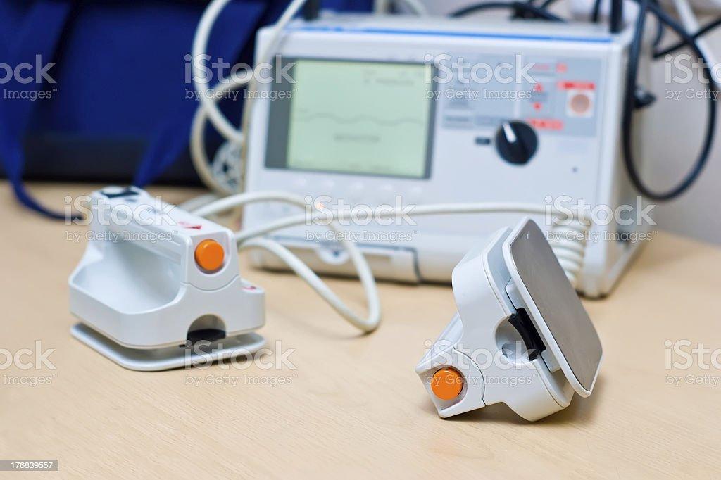 Defibrillator royalty-free stock photo