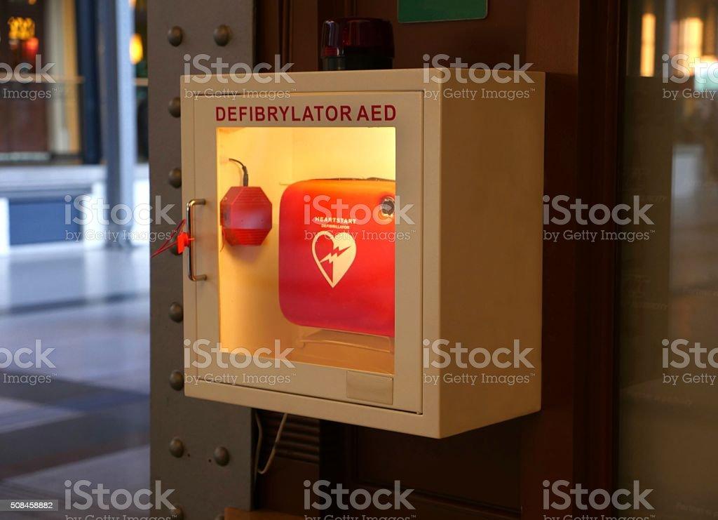 Defibrillator stock photo