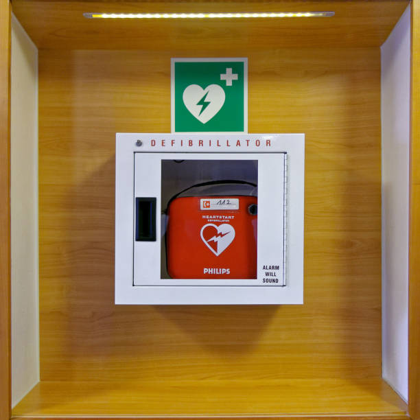 Defibrillator stock photo