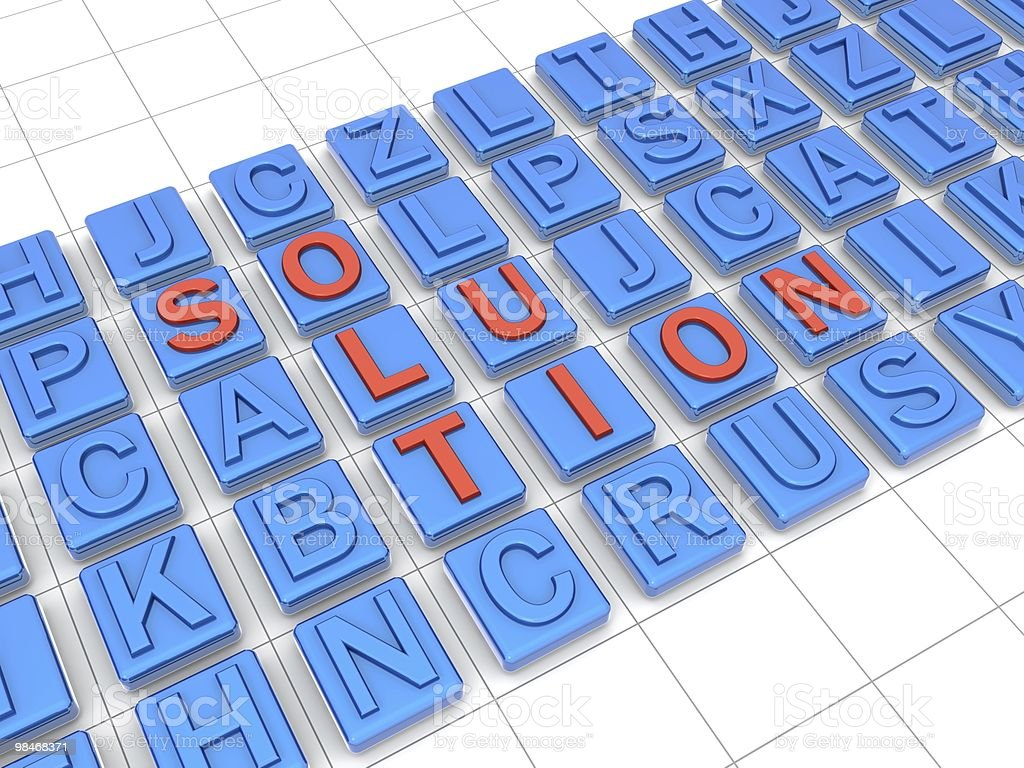 Define a solution with thinking out of the box concept royalty-free stock photo