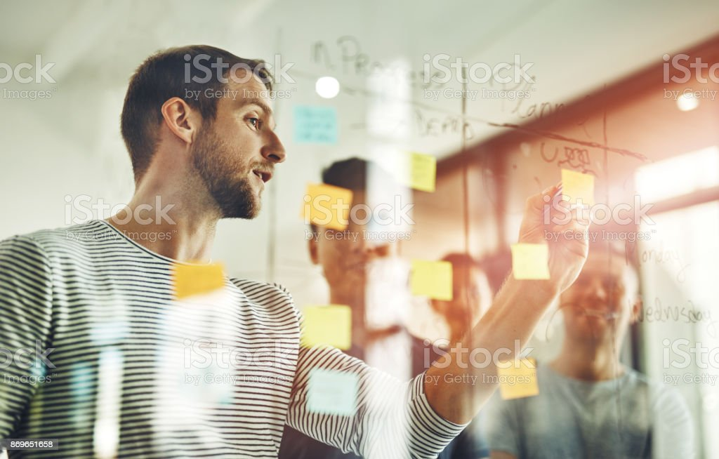 Defining the issue at hand - Royalty-free Adhesive Note Stock Photo