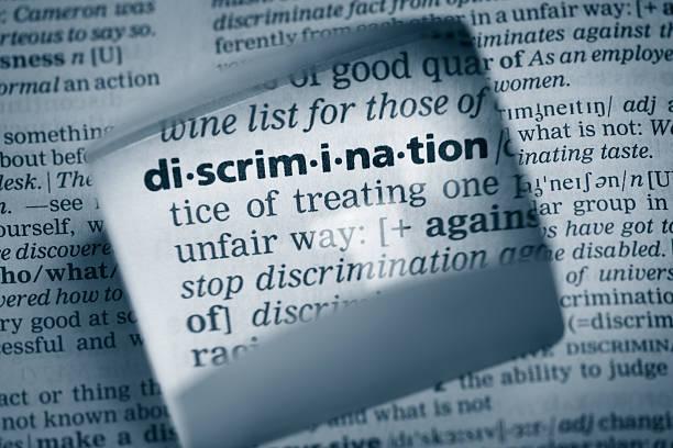 """definition """"diskriminierung"""" - vorurteil stock-fotos und bilder"""