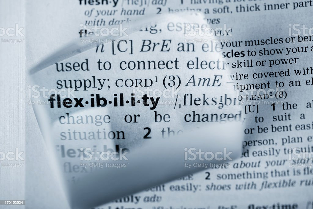 Definition 'flexibility' royalty-free stock photo
